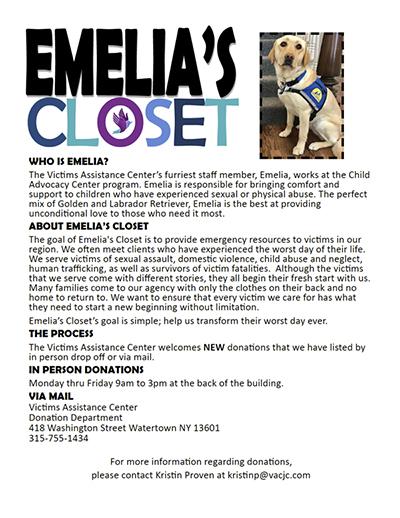 VAC Fundraiser Emelia's Closet